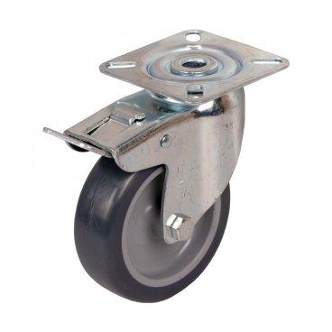 Mēbeļu ritenis 75 mm, ar bremzi 17650