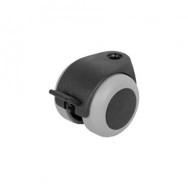 Furniture castor 50 mm, with brake 17652