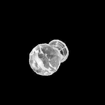 Rokturis-poga, stikla (hroms) 25mm 17207